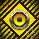Party design element with speaker Stock Photography