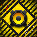 Party design element with speaker. Royalty Free Stock Photos