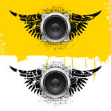 Party design element with speakers . Vectorillustration Stock Photography