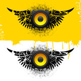 Party design element with speakers . Royalty Free Stock Photography