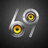 Party design element with speakers Stock Photos
