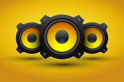 Party design element with speakers stock illustration