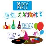 Party design Royalty Free Stock Photos