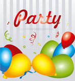 Party design over white background vector illustration Stock Images