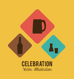 Party design over yellow background vector illustration Royalty Free Stock Photos