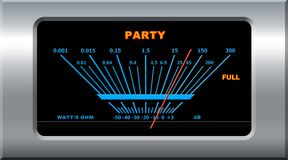 Party device. Pointing full level stock illustration