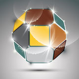 Party dimensional colorful sparkling globe with geometric figure Royalty Free Stock Images