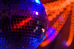 Party Disco Ball. This is a picture of a disco ball at a wedding party stock photo