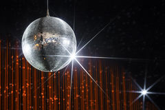 Party disco ball stock photo
