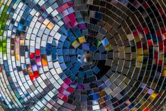 Colourful reflections in a disco ball. Stock Photography