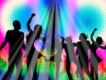 Party Disco Represents Discotheque Nightclub And Parties. Dancing Party Meaning Fun Nightclub And Cheerful Stock Images
