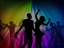 Party Disco Shows Celebrate Discotheque And Cheerful Stock Photos