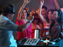Party with dj Royalty Free Stock Image