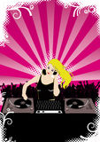 Party with DJane. Flier or poster for your party royalty free illustration