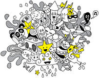 Party Doodle 2 Royalty Free Stock Photos