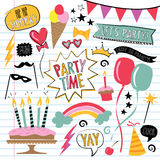 Party doodles stock illustration