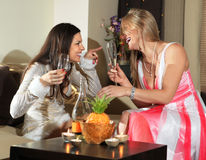 Party in drawing room Stock Images