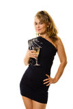Party dress and wine Stock Photos