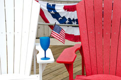 Party drink with American flag Stock Image