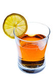Party drink in a glass with lemon slice Stock Images