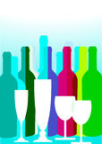 Party drinks royalty free illustration