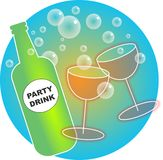 Party Drinks. Bubbly party drinks illustration for those special celebrations Stock Illustration