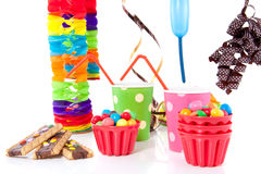 Party drinks and candy Stock Photo