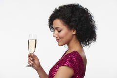 Party, drinks, holidays and celebration concept Stock Images
