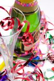 Party drinks with streamers Stock Photography
