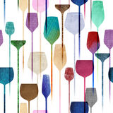 Party drinks textured seamless pattern royalty free illustration