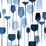 Party drinks textured seamless pattern Royalty Free Stock Images