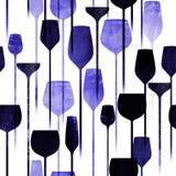 Party drinks textured seamless pattern stock illustration