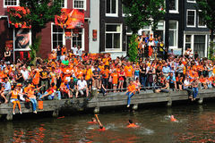Party for Dutch football team Royalty Free Stock Photos