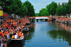 Party for Dutch football team. Party for the Dutch football team in Amsterdam in Holland Stock Images