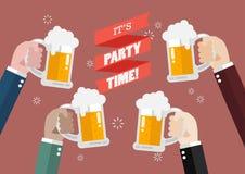 Party el tiempo Ilustración del Vector