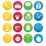 Party Element icon Set Stock Photo