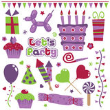 Party elements Royalty Free Stock Images
