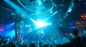 Party en el concierto del disco Foto de archivo