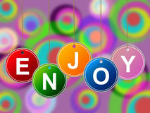 Party Enjoy Represents Happy Positive And Parties Stock Images