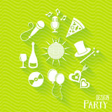 Party and entertainment icons Royalty Free Stock Photo