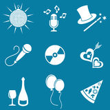 Party and entertainment icons Stock Photography