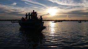 Good evening enjoy by boat Royalty Free Stock Photos