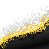 Party explosions retro banner Stock Photography