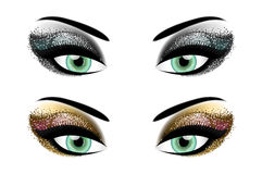 Party eyeshadow Stock Photos