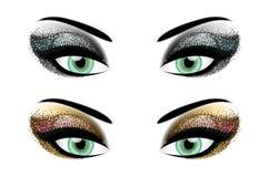 Party eyeshadow stock photos