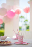 Party With Family For Little Girl's Birthday Stock Photos