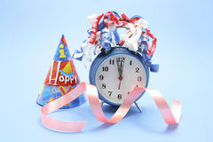 Party Favors and Alarm Clock Royalty Free Stock Images