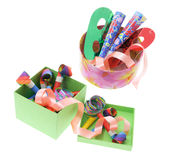 Party Favors in Boxes Royalty Free Stock Images
