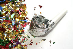 Party favors, macro. Let's Party stock photography