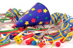 Party party favors for a party royalty free stock image